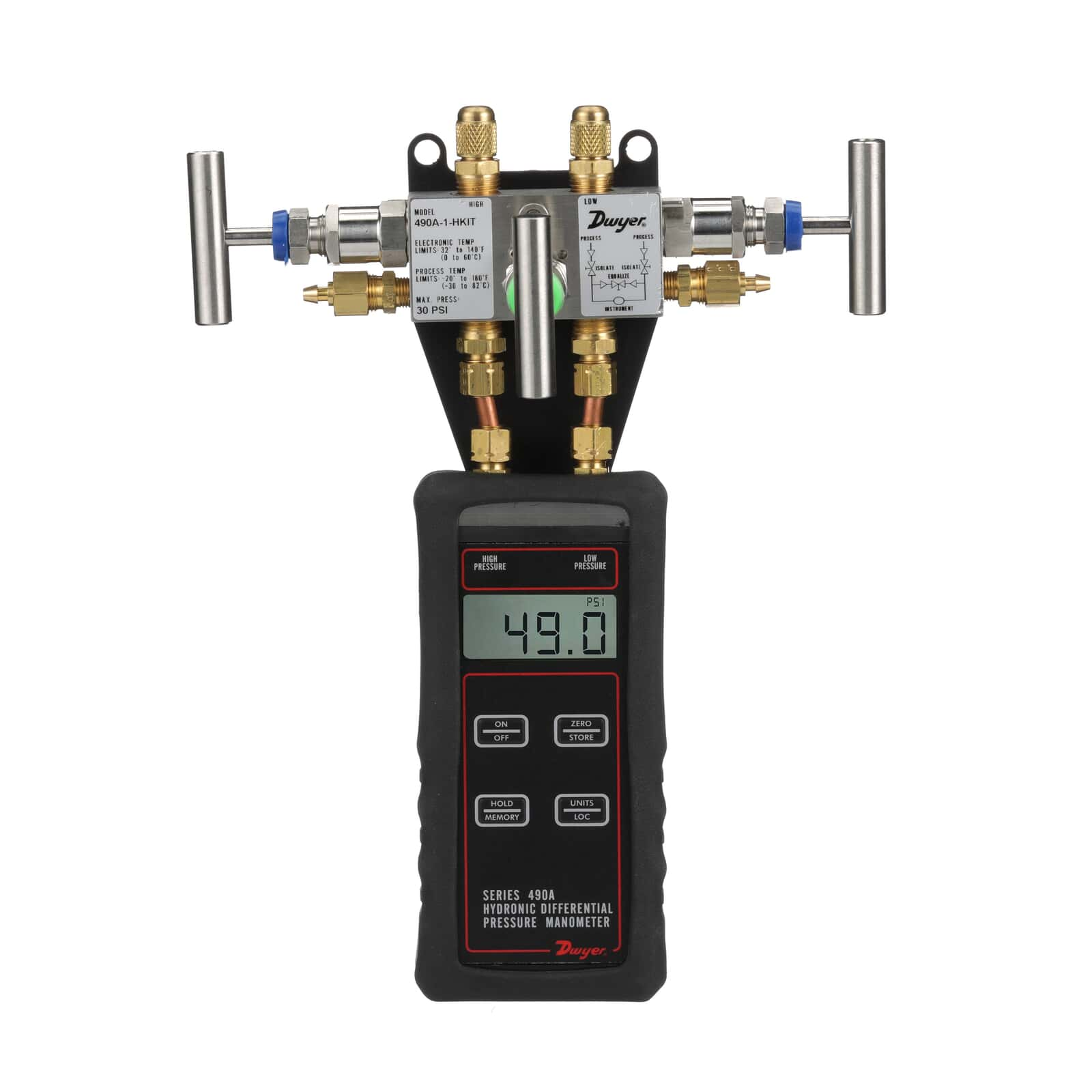 Series 490A | Hydronic Differential Pressure Manometer is a ...