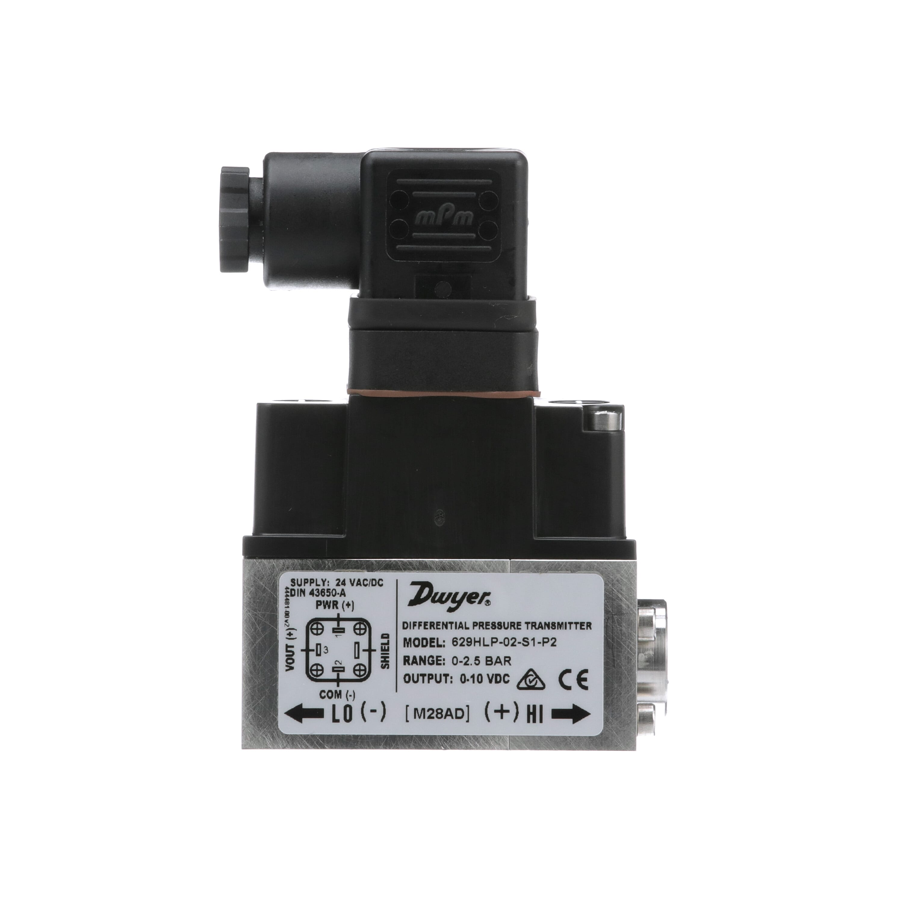 4 to 20mA DC Output 1//4 MNPT Intrinsically Safe Pressure Transmitter 0 to 300 psi